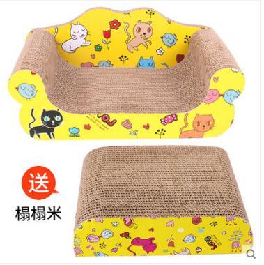 猫玩具猫抓板沙发款猫咪用品瓦楞纸磨爪器猫咪玩具大号猫抓板猫窝